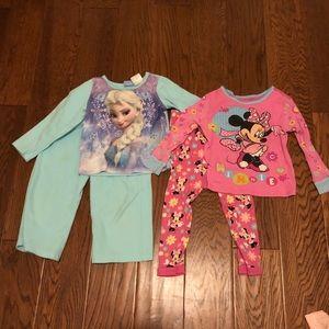 Lot of girls Disney pajamas